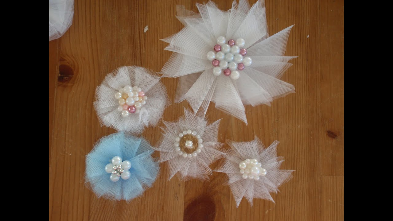Tulle Flowers Tutorial Nice And Easy Youtube