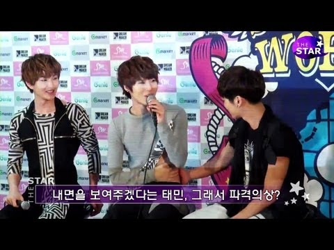 [TheSTAR] 샤이니(SHINee) 태민(TaeMin)의 파격노출에 신난 형들 '귀요미'네!