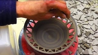 Carving / Piercing a Pottery Bowl : How to carve clay
