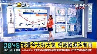20191117 三立財經台 0800晨間新聞 氣象主播曾鈴媛播報片段