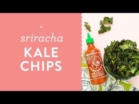 Easy Sriracha Kale Chips Recipe Tutorial