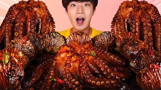 ENG SUB)Amazing! Black Bean Octopus+Scallops Eat Mukbang🐙Seafood Boil Korean ASMR Hoony Eatingsound