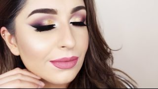 Golden Evening Party Look Tutorial FULL FACE
