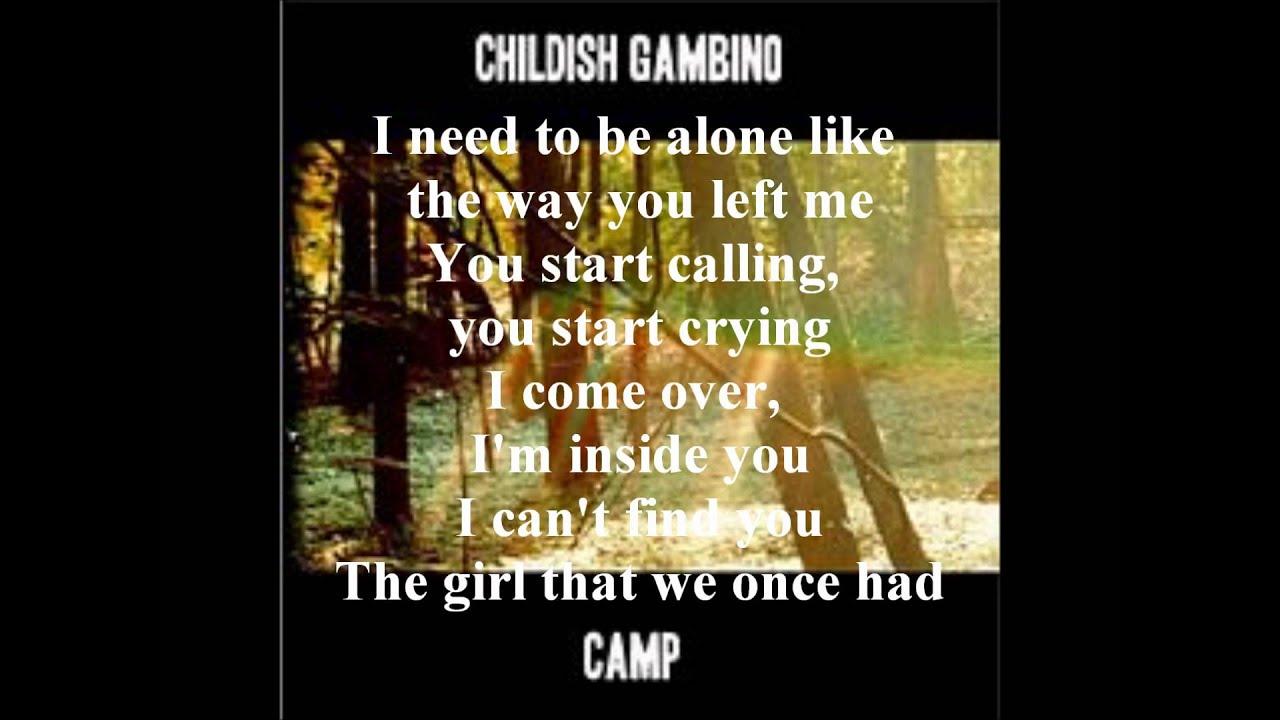 Childish Gambino - Heartbeat(with lyrics) - YouTube