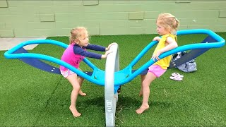 ABC Song | Outdoor Playground for Kids | Nursery Rhymes & Baby Songs from Twins Kids Show