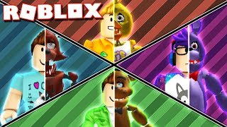 Roblox Adventures - TRANSFORM INTO FNAF ANIMATRONICS IN ROBLOX! (FNAF Simulator)