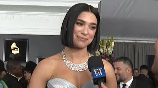 GRAMMYs 2019: Dua Lipa Reacts to Winning a GRAMMY for the First Time (Exclusive)