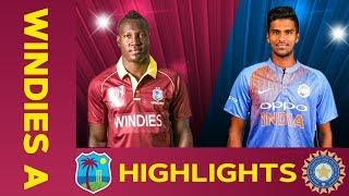 West Indies A vs India A - Match Highlights | 5th ODI 2019 | India A Tour of West Indies