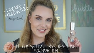IT Cosmetics Bye Bye Lines Foundation Review + Demo | Mature Skin - Elle Leary Artistry