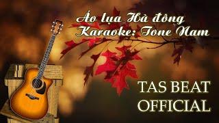 Karaoke Áo lụa Hà đông - Tone Nam | TAS BEAT