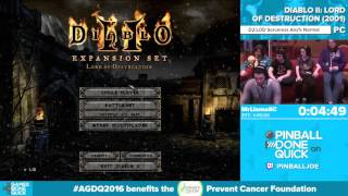 Diablo II by MrLlamaSC in 1:47:05 - Awesome Games Done Quick 2016 - Part 128
