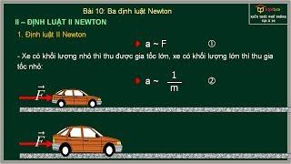 Bài 10: Ba Định Luật Newton - Vật Lý 10