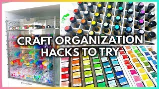 11 BEYOND CLEVER CRAFT ORGANIZATION HACKS YOU'll WANT TO TRY