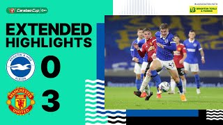 EFL Cup Highlights: Brighton & Hove Albion 0 Man United 3