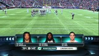 NFL on CBS - 2013 Dolphins vs Patriots - Player Lineups