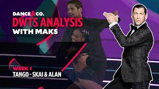 DWTS MAKS ANALYSIS: Week 1 - Skai Jackson & Alan Bersten's Tango