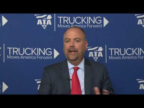 ATA Chief Economist Bob Costello discusses the American Trucking Associations' advanced seasonally adjusted For-Hire Truck Tonnage Index 2.5% decline in April.