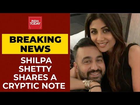 Shilpa Shetty breaks silence over her husband Raj Kundra's arrest, shares cryptic note