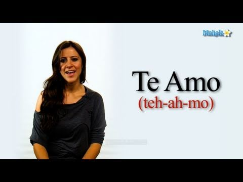 """How to Say """"I Love You"""" in Spanish - YouTube"""