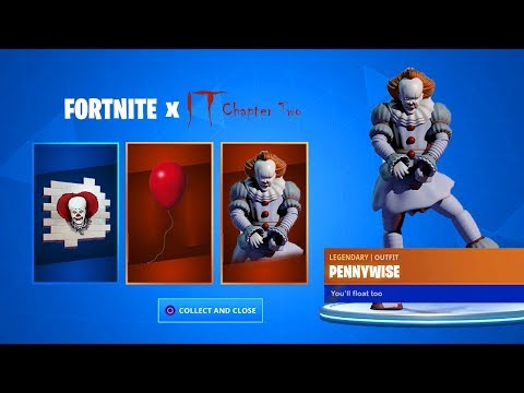 """CLAIM the FREE """"IT 2"""" ITEMS in Fortnite *PENNYWISE SKIN* (Fortnite x IT Chapter 2)"""