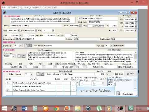 civil engineering billing software tutorial - part 6 (NEW)