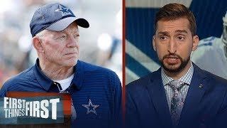 Nick & Cris react to Jerry Jones' comments on Zeke's holdout | NFL | FIRST THINGS FIRST