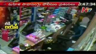 Video: Amazing fight of Women Shopkeeper with Armed robber..