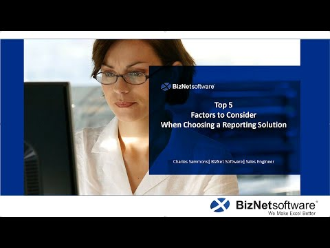 Customer Webinar-Top 5 Factors When Choosing A Reporting Solution