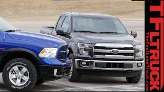 2015 Ford F-150 2.7L vs Ram 1500 EcoDiesel Mashup Review: Speed vs Torque