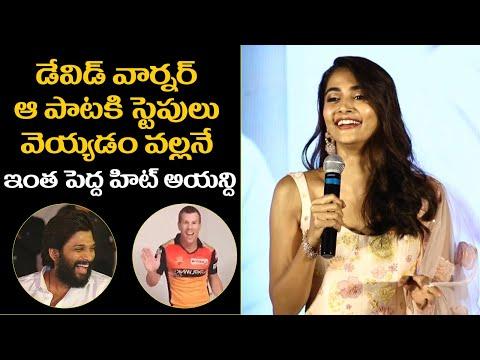 Pooja Hegde about David Warner Butta Bomma dance