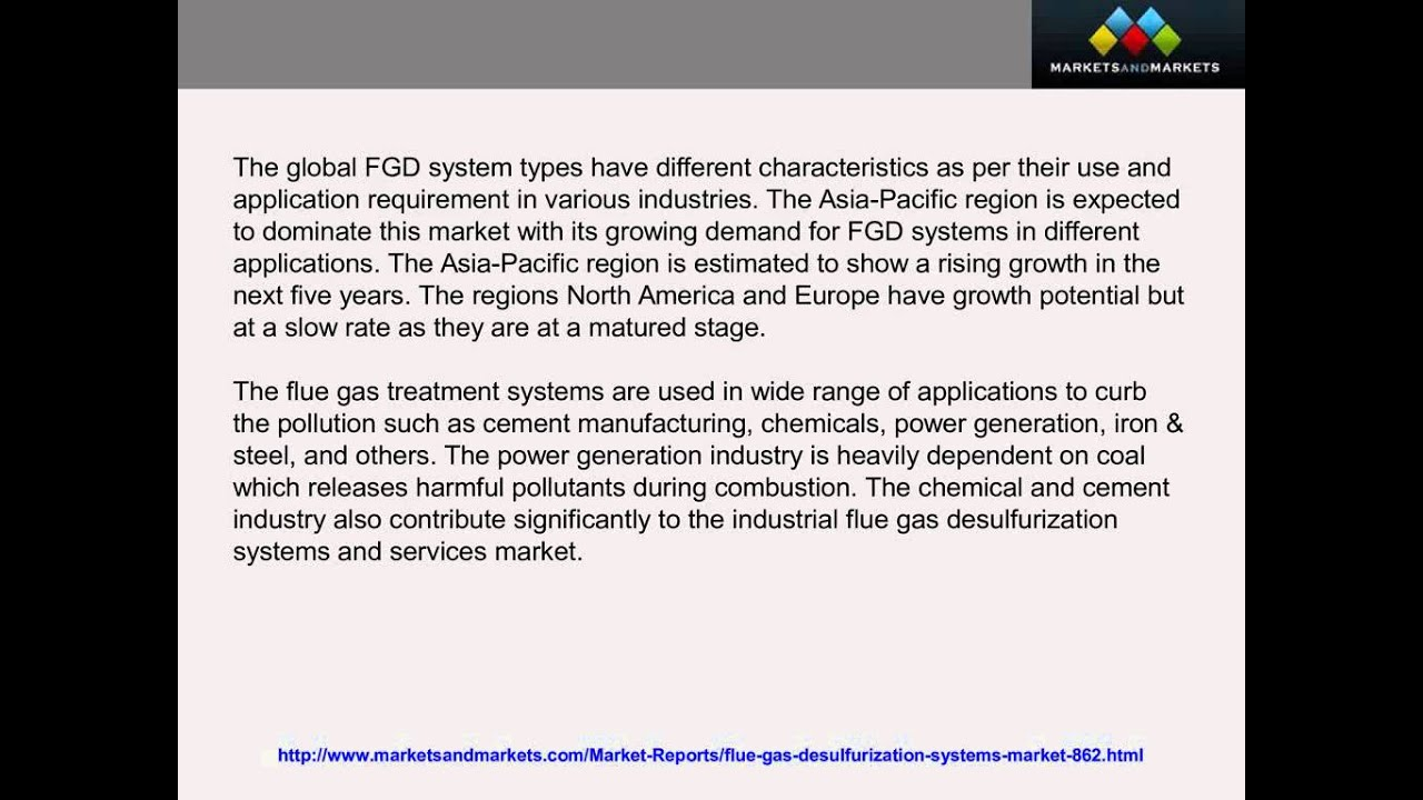 ? Flue Gas Desulfurization Systems and Services Market 2019 - YouTube