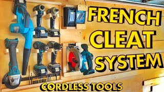 French Cleat Organization | Cordless Tool Storage | DIY Charging Station | Woodworking