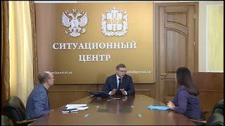 Губернатор Омской области дал большое интервью по ситуации с распространением коронавирусной инфекции