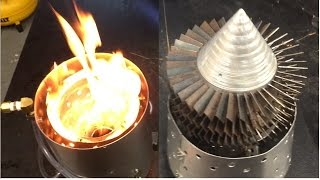 Homemade Combustion Chamber and Turbine for Jet Engine