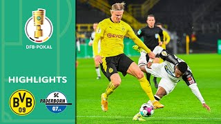 Haaland seals the deal! | Borussia Dortmund vs. Paderborn 3-2 | Highlights | DFB-Pokal Round of 16