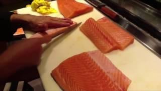Cách người Nhật chế biến cá hồi - Nhà hàng Nhật Bản Paku Paku
