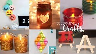 6 Home Decorative Craft Ideas | DIY Room Decor | Handcraft
