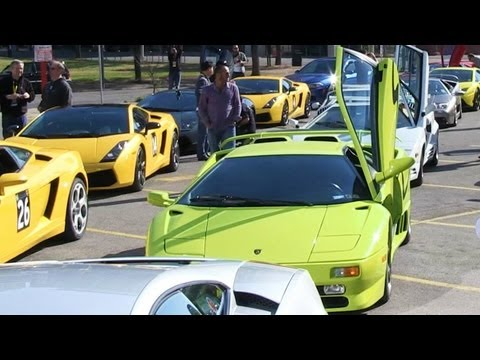 A LOT of Lamborghinis!!!