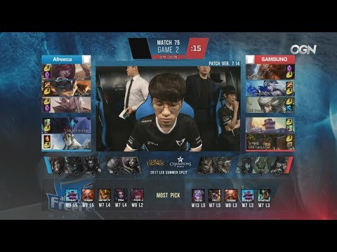 Samsung VS Afreeca Game 2 Full Replay :  https://www.youtube.com/watch?v=Emj8h_SC4iU