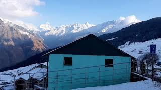 Auli snow fall and beautiful mountains