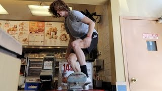 Skating Off KFC's Counter!