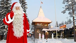 Visiting Santa Claus Village in Rovaniemi in Lapland Finland: Father Christmas video for kids