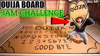 (Scary) Playing The WORLDS Biggest Ouija Board at 3AM CHALLENGE! **IT WORKED!**