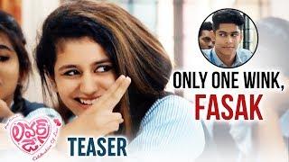 Lovers Day Telugu Movie Teaser- Priya Prakash Varrier..