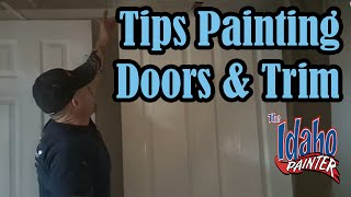 How To Spray Interior Trim & Doors. Painting Doors & Trim.