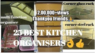 25 Best Kitchen Organisers with Price in Tamil👍/How to arrange All Types  Kitchens Using Organiser