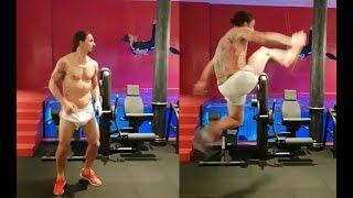 Zlatan Ibrahimovic shows off acrobatic taekwondo skills