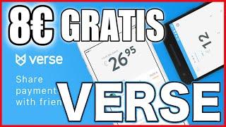 💰Verse app 8€ gratis 🔥 RETIRABLES🔥  Te lo muestro en el video🎬 #verse #verseapp