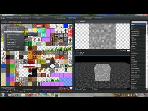 как создать текстуру майнкрафт: