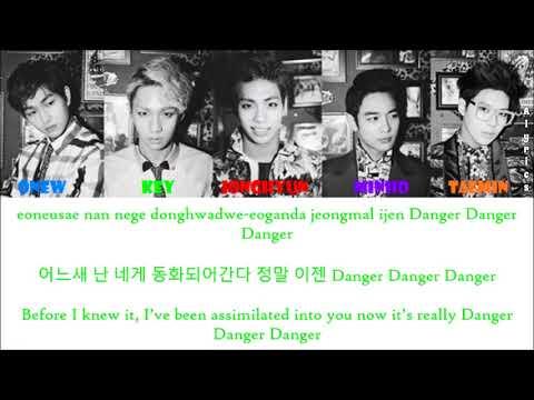 SHINee - Dangerous (Medusa II) (Rom-Han-Eng Lyrics) Color & Picture Coded